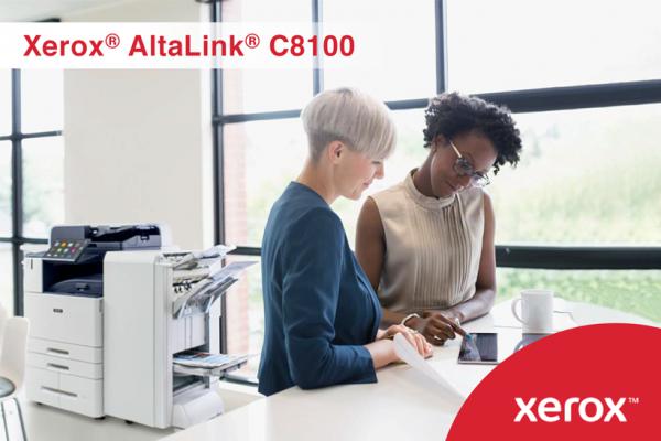 Многу повеќе од само обични принтери во боја – Xerox® AltaLink® C8100 се идеален дигитален асистент на работното место!